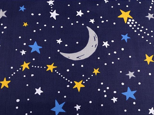 Bavlnená látka nočná obloha