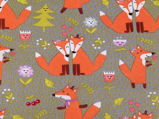 Bavlnená látka líška