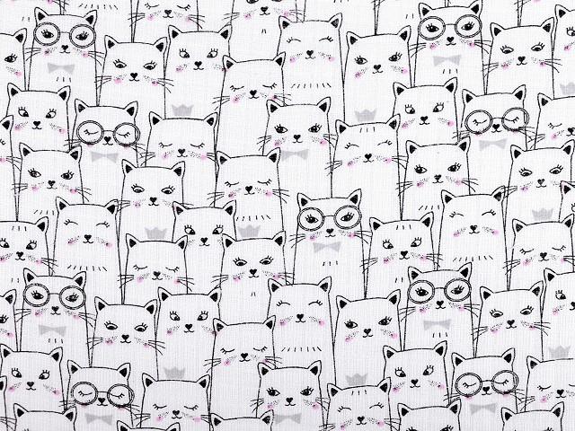 Bavlněná plenkovina / mušelín kočky