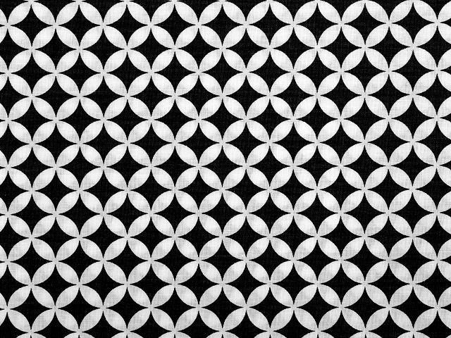 Bavlnená látka kruhy