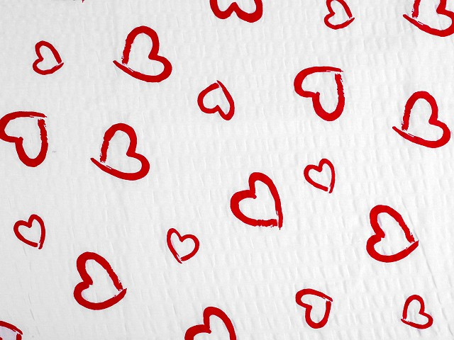 Bavlnený krep srdce