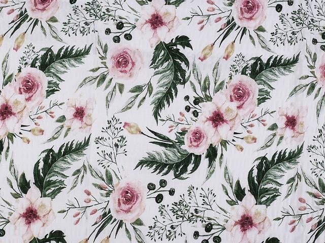 Bavlnený krep ruže