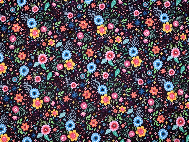 Dekoračná látka Loneta kvety malé