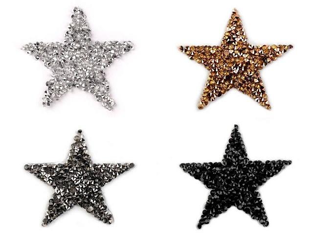 Naprasowanka gwiazda z kamyczkami