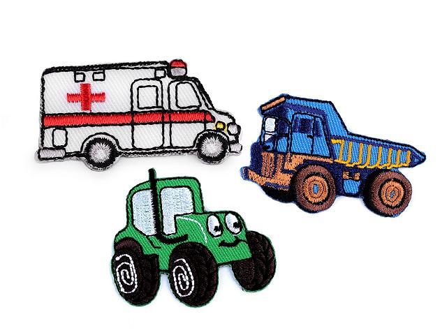 Nažehlovačka nákladné auto, traktor, bager, vláčik, miešačka