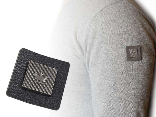 Dekoračná aplikácia / nášivka koruna 30x30 mm na odev