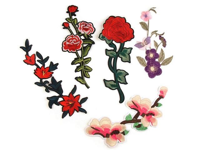 Veľká nažehlovačka kvety / ruže