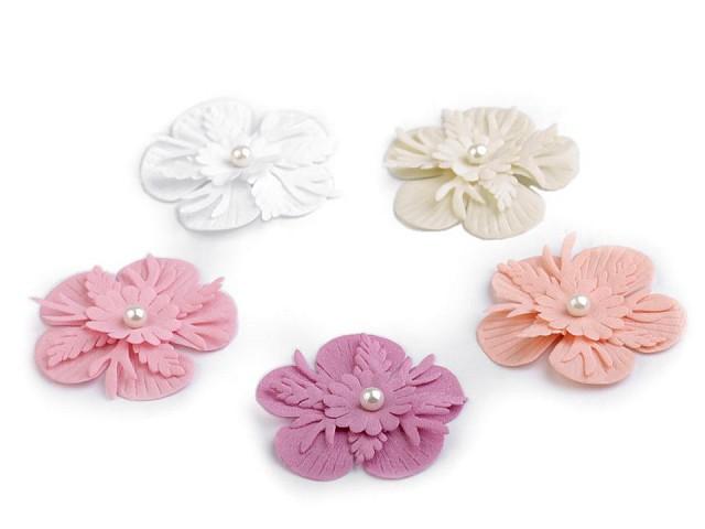 Kvet 3D Ø53 mm s perlou