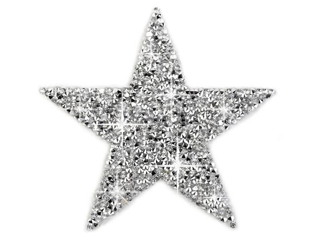 Aufbügler Strass Stern - groß