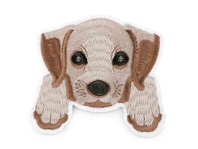 Nažehlovačka pes, celovyšívaná