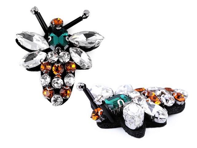 Aplikácia s brúsenými kameňmi motýľ, vážka, včela