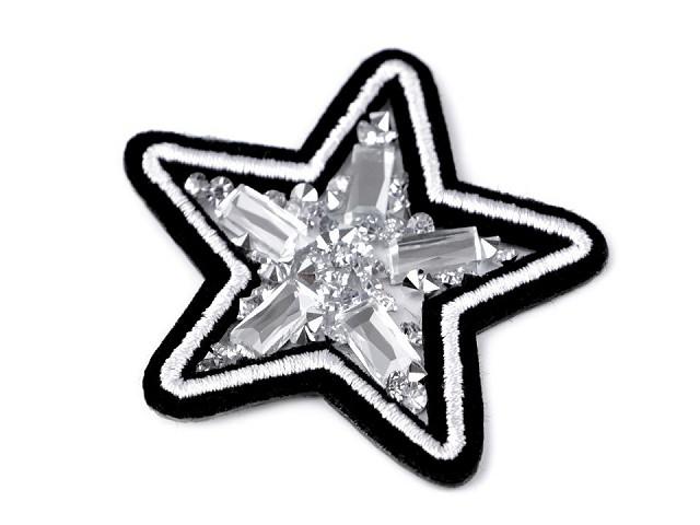 Nažehlovačka s kamienkami - hviezda, erb