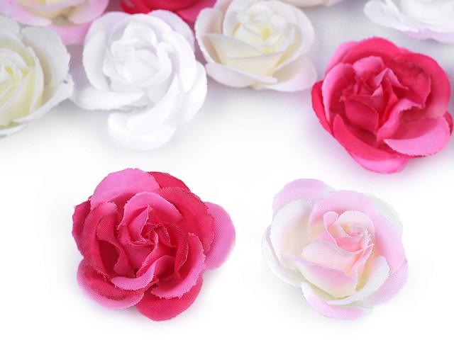 Umělý květ růže Ø35 mm
