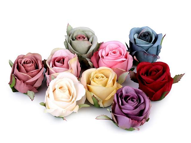 Umelý kvet ruža Ø55 mm