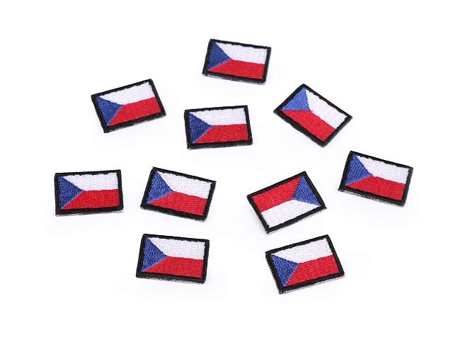 Nažehľovačka mini česká vlajka