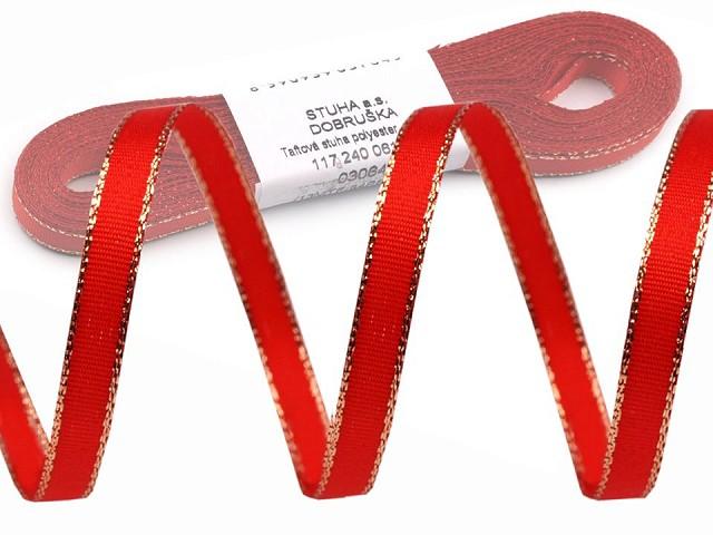 Panglică din tafta cu lurex, lățime 9 mm
