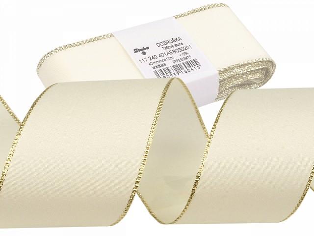 Taftband Breite 40 mm mit Lurex