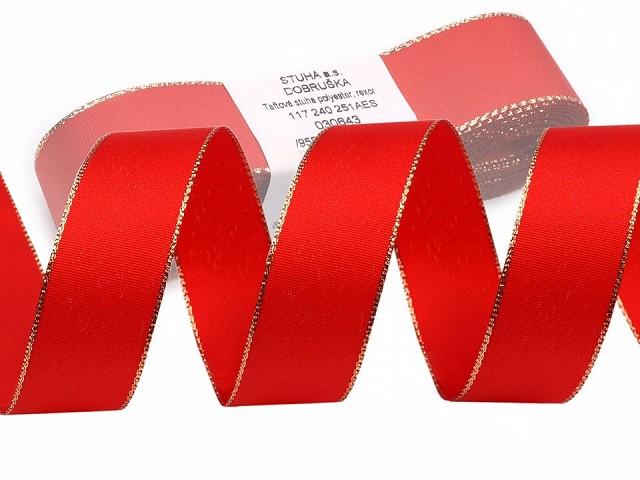 Taftband Breite 25mm mit Lurex