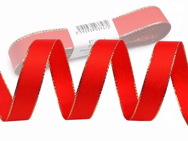 Taftband Breite 15 mm mit Lurex