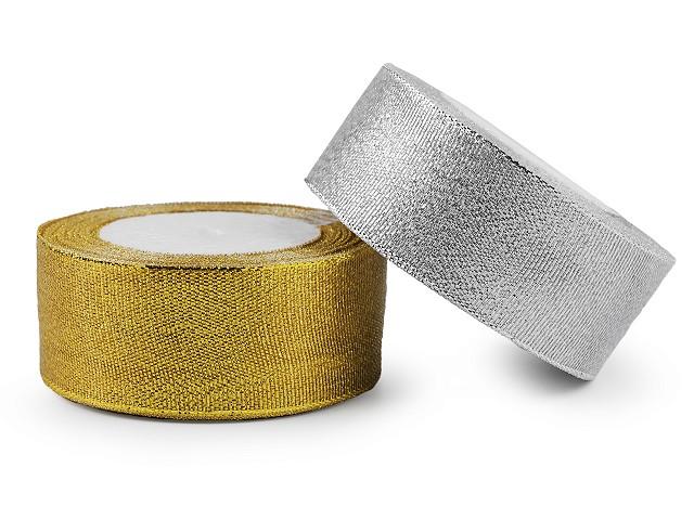 Brokatband Breite 38 mm mit Lurex