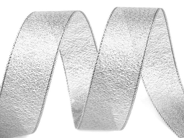 Ribbon width 25 mm with lurex