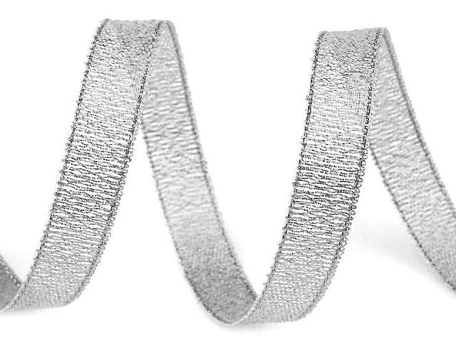 Brokátová stuha šíře 10 mm s lurexem
