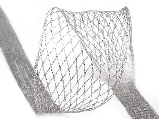 Netzband / Formband mit Lurex und Draht