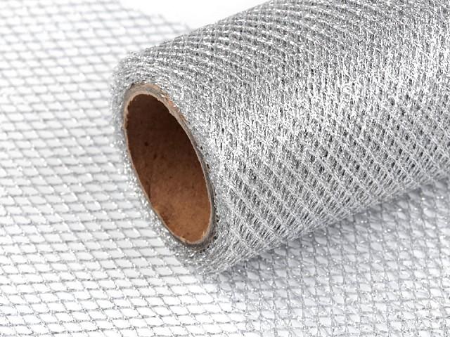 Dekoband / Netz mit Lurex Breite 15 cm