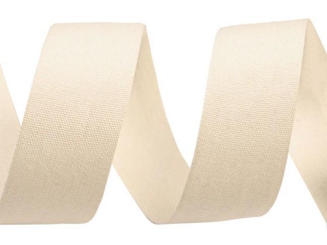 Bavlnená stuha / plátnovka šírka 25 mm jednofarebná