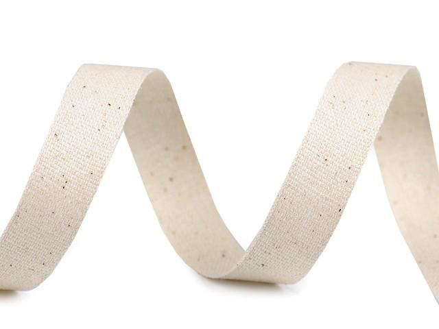 Bavlnená stuha / plátnovka šírka 15 mm jednofarebná