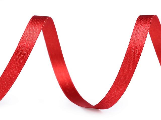 Atlasová stuha oboulící s lurexem šíře 10 mm vánoční