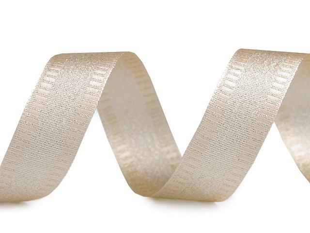 Stuha s lurexom šírka 25 mm