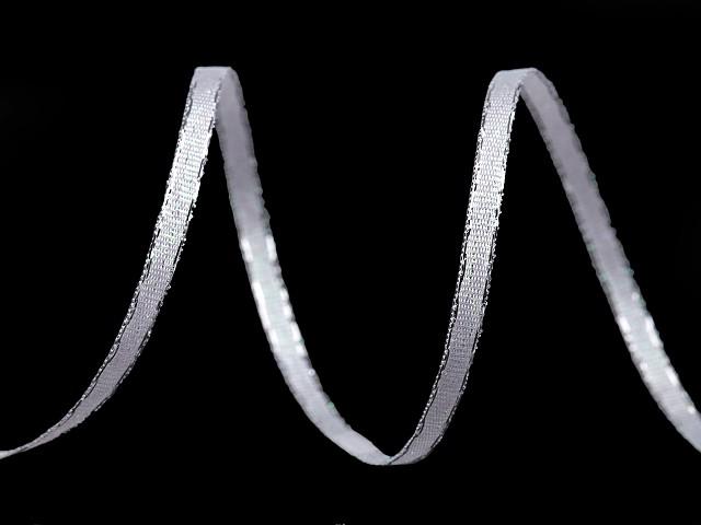 Taftová stuha s AB efektem šíře 3 mm vánoční