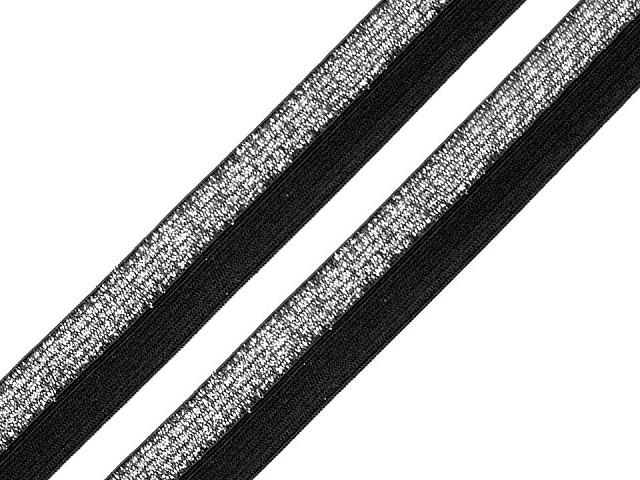 Lamówka elastyczna łamana / lampas szerokość 17 mm z lureksem