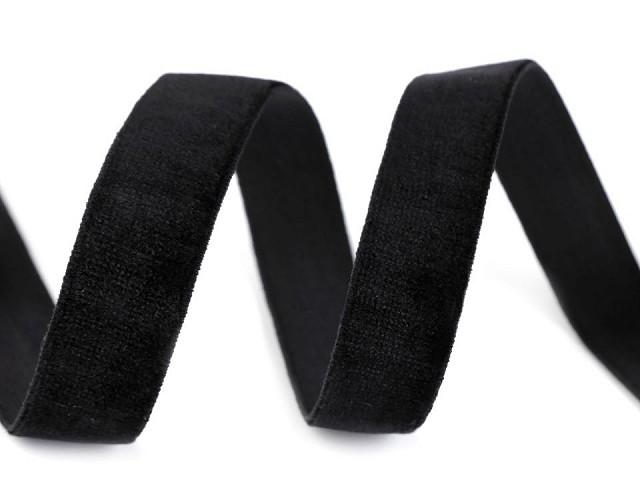 Samtband elastisch Breite 16 mm