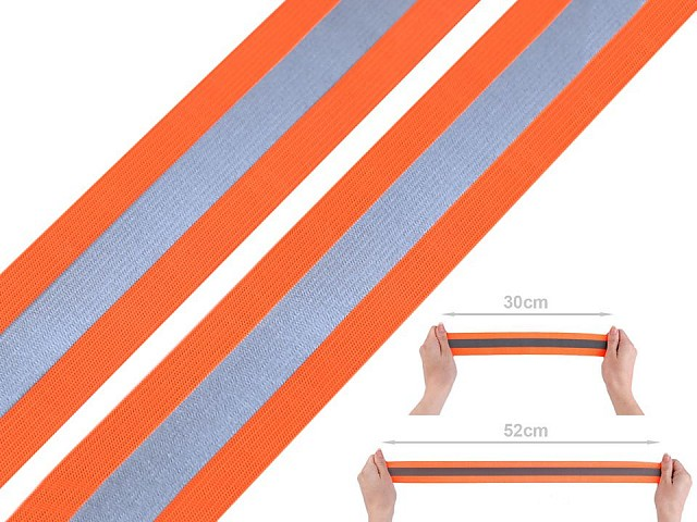 Elastic lat cu bandă reflectorizantă, lățime 40 mm