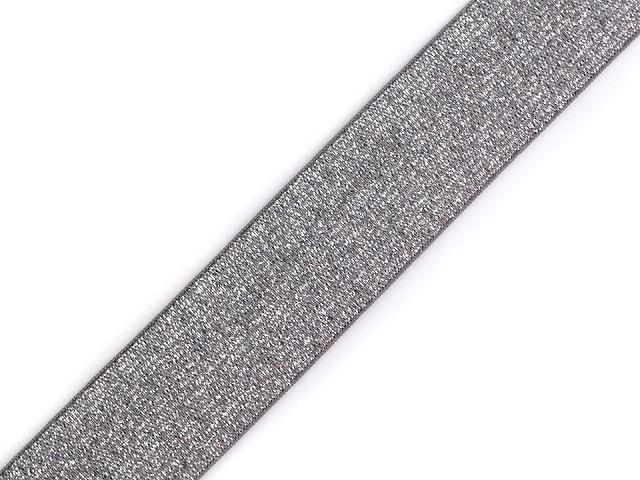 Gummiband mit Lurex Breite 27 mm