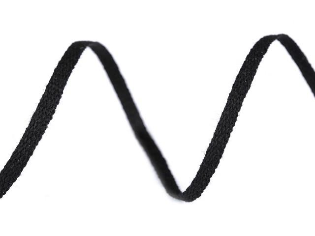 Bavlnená šnúra - pertle šírka 3 mm