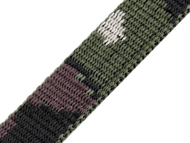 Chingă polipropilenă, model camuflaj, lățime 20 mm