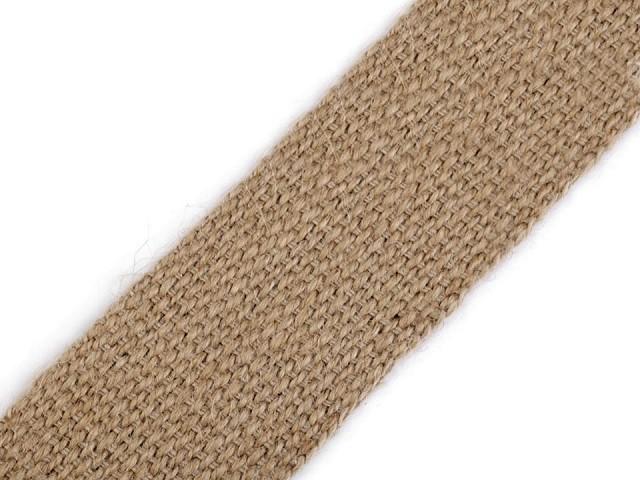 Jutový popruh šíře 40 mm