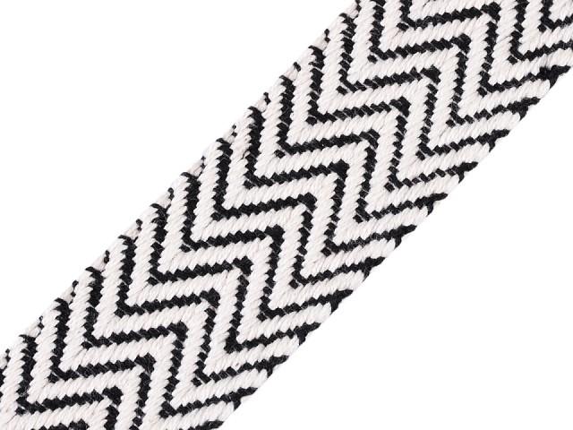 Bavlnený obojstranný popruh šírka 38 mm