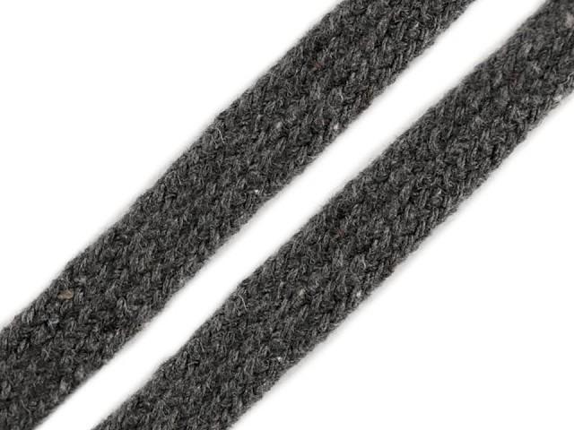 Bavlnená šnúra plochá / dutinka šírka 12 mm