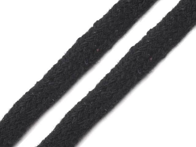 Bavlnená šnúra plochá / dutinka šírka 10 mm