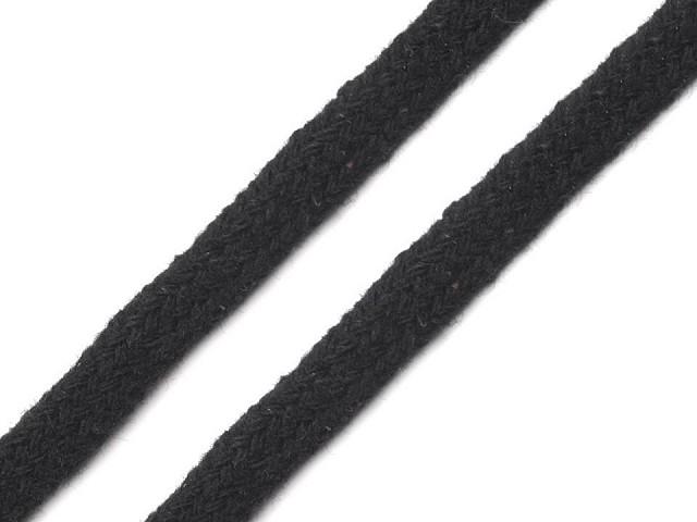Bavlnená šnúra plochá / dutinka šírka 7 mm