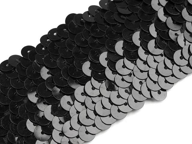 Paillettenborte Breite 45 mm elastisch