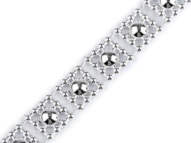 Borta s perlami - polperly šírka 9 mm