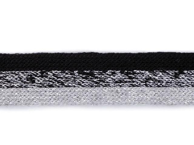 Lampas / odevná stuha s lurexom úpletový šírka 17 mm