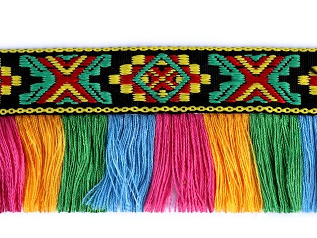 Prámik indiánsky so strapcami šírka 45 mm