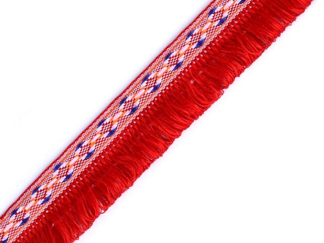 Prámik indiánsky s dvojitými strapcami šírka 27 mm