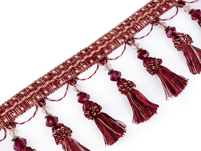Prámik / strapce s korálikmi šírka 11,5 cm